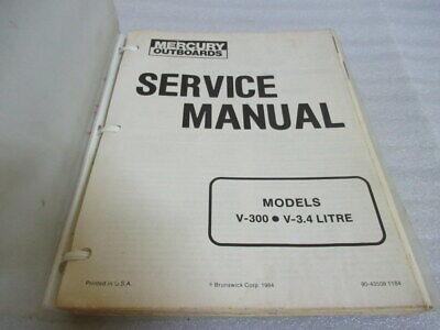 Mercury Outboards V-300 V-3.4 Litre Models Service Repair Manual P/N 90-43508