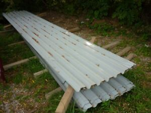 Used steel sheets for roof or walls