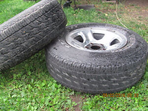 Two Dodge Rims with 265 R 17 Tires, $25 each Prince George British Columbia image 4