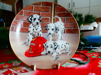 Firehouse Frolic Plate #T0843 Artist Linda Picken