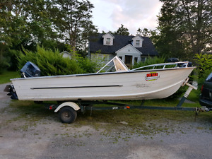 Boat, Motor and Trailor Combo $3000 obo