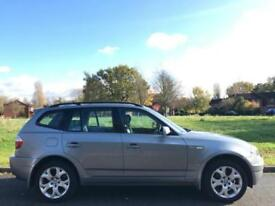 BMW X3 2.5i 2004 04 REG SPORT + BLACK LEATHER + MANUAL