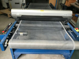 UV Dryer conveyor and semi auto Silk Screen Printing Press.