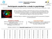 RESEARCH STUDY IN SEXUAL MEDICINE --- PARTICIPANTS NEEDED!!