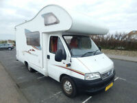 Swift Lifestyle 590 RS Fiat 2.3 For Sale 5 Berth with 4 Seatbelts, Low Mileage