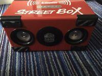 Street box portable speaker, music
