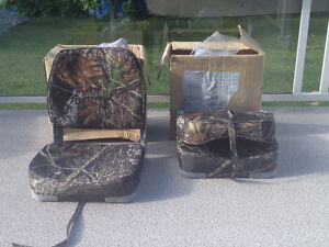 Two deluxe camo boat seats