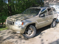 Parting out 2000 and 2001 Grand Cherokee