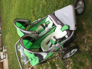Practically new double jogging stroller !