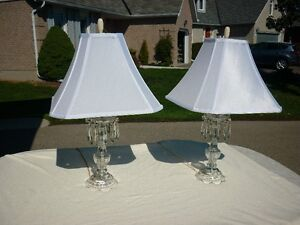 Crystal Table Lamps - Pair