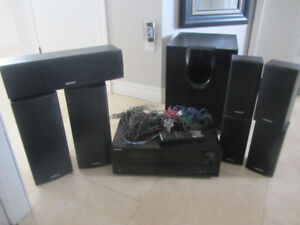 Home Theatre 7 Speaker System Sub Woofer Amplifier Receiver