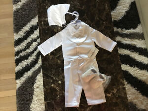 Baptism outfit for boy, white
