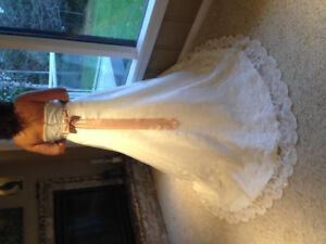 Lace and Crystal trimmed wedding dress