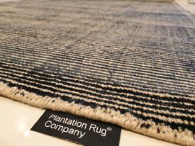 Brand New 100% Wool - Black - Plantation Rug Company - Rug 230x150cm