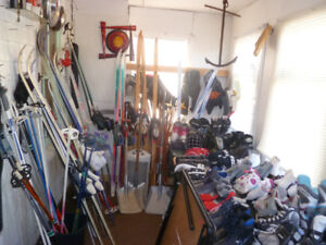 3 ALUMINUM SHOVELS,SPECIAL  NEED POTTY CHAIR, +MORE