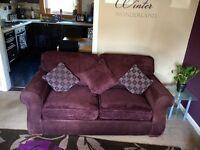 Purple chenille sofa gorgeous great condition