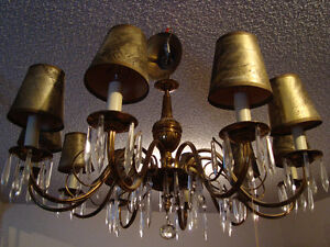 Antique Chandelier with Original Hats Strathcona County Edmonton Area image 1