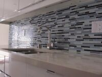 PROFESSIONAL Kitchen +Bathroom Backsplash Tile Install- $198