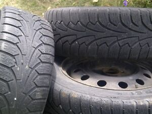 "Hyundai 4x 15"" winter tires and rims London Ontario image 2"