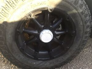 Dodge rims and tires for trade