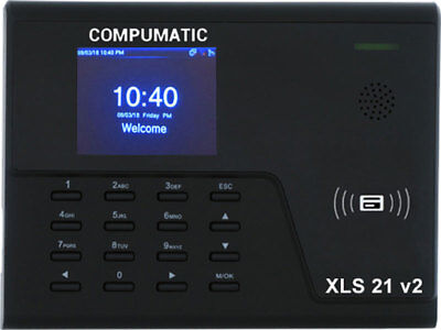 New Compumatic Xls 21 V2 Pin Rfid Prox Card Time Clock System W Wifi Tcpip