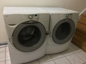 """Whirlpool 27"""" white frontload stack able white washer & dryer"""