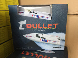 Brand New UDI-003 BULLET 20km/h High Speed R/C Boat Ready to Go