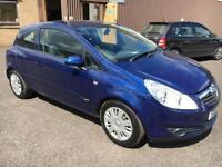 5707 Vauxhall Corsa 1.2i 16v Club Blue 3 Door 62936mls MOT 12m