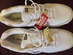 Men's Size 14 Wide, white, Wilson running shoes (brand new)