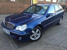 Mercedes-Benz C200 2.1TD Auto 2004 Avantgarde SE Estate 96k 1 Year MOT Blue