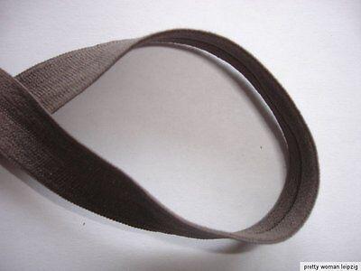 10m elastisches Band 0,28€/m in braun mit Falzkante ED107