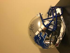 Golden Tate Chrome full size helmet with Beckett Coa