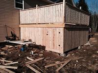 Carpenter- handyman- own truck- own tools-stone walls & Decks!!