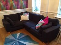 Corner Sofa / Incredibly Comfortable / Charcoal Grey