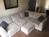 DFS Grey corner sofa - under 1 yr old - with paper work