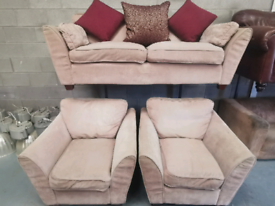 Cream DFS 4 peice suite and footstool