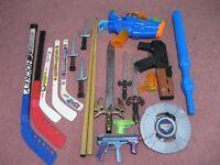 kit de hockey et jouets