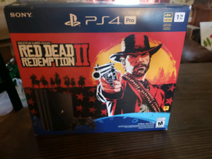 Ps4 Pro red dead 2 bundle with cod black op 4