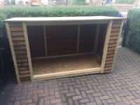 Open front shed