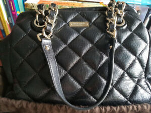Kate Spade Shoulder Bag in Black Genuine Leather Good Condition!
