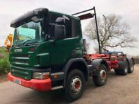 2011 11 Scania P360 euro 5 8x4 Multi-lift XR26S hookloader sheet system