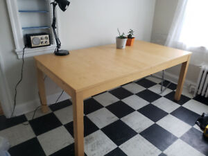 Ikea Solid Wood Harvest Kitchen Table *leaf included