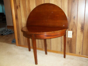 Hallway Entry or Card Table Half Moon