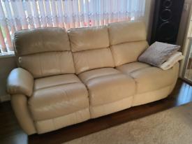 3+2 Dfs Leather Sofa