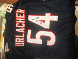 "Brian Urlacher Signed Bears Jersey Inscribed ""HOF 2018"" JSA COA"