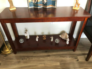 Cherry Wood Display Table