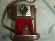 Mid century Retro Camera in leather case CHROME BODY Epping Ryde Area Preview