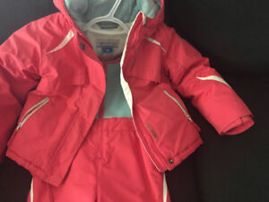 Pink and white Columbia 4T snow pants and jacket