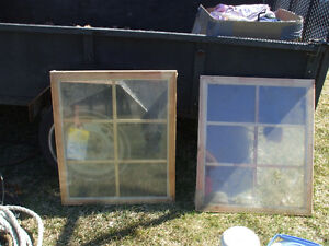 2 NEW WOOD WINDOWS FOR SALE,,