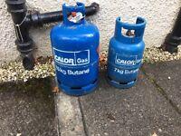 Butane gas cylinder x2